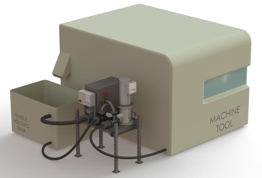 Automag Skid - pojedyńczy zbiornik w linii