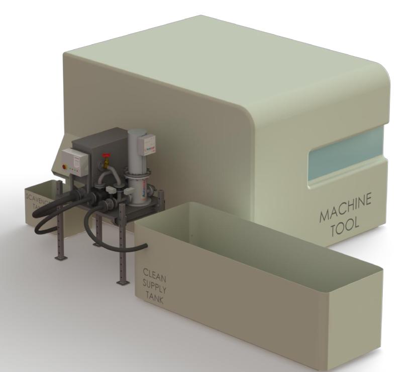 Automag Skid - zbiorniki przepłukujące
